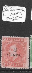 SARAWAK  (PP2803B)  SURCH  2C/12C  SG 33 WMK L   NGAI