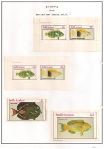 SCOTLAND - STAFFA - 1982 - Fish #2 - Perf, Imperf 2v, Souv, D/L Sheets - MLH