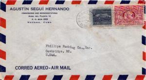 Cuba 1c Communications Building Postal Tax and 12c Rotary International 1956 ...