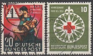 Germany #694, 696 F-VF Used CV $10.50 (C7251)