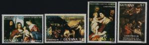 Guyana 1991a-b, 1992a-b MNH Christmas, Virgin & Child, Adoration of Magi