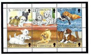 Gibraltar 702 MNH 1996 Dogs sheet of 6
