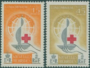 New Hebrides French 1963 SGF108-F109 Red Cross set MNH