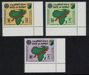 Kuwait Medicine Viral Diseases 3v Corners 1983 MNH SC#921-923 SG#1000-1002