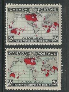 Canada 85-86 SG 166-67 MNH F/VF 1898 SCV $200.00
