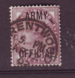 J13763 JLstamps 1896 great britain used #o55 army official ovpt