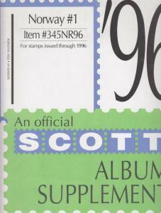 Scott Album Supplement Norway  #1 Through 1996