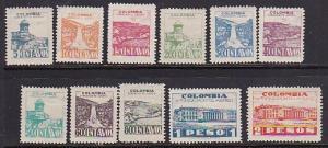 Colombia 1945 Scott C134-C144 Airmails MHR