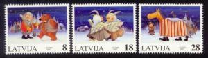Latvia Sc# 458-60 MNH Christmas 1997