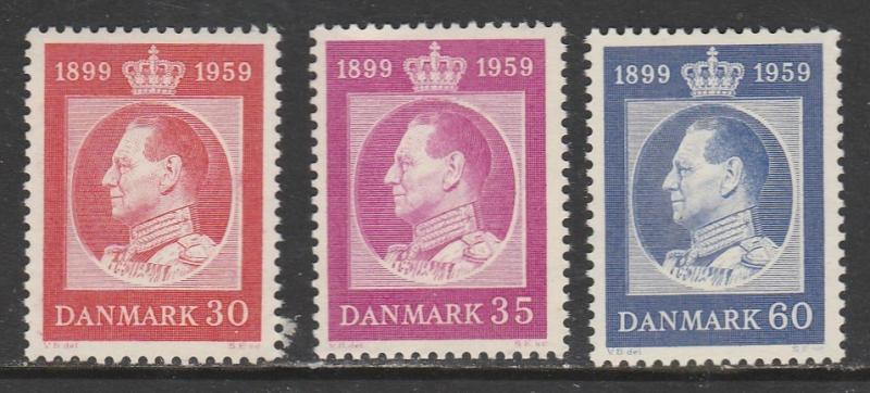 Danemark  1959  Scott No. 366-68  (N**)  Complet