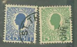 Danish West Indies 31, 34 Used VF