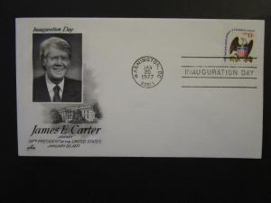 United States 1977 Carter Inauguaration Cover / Arrcraft Carter Cachet - Z4470
