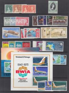Trinidad & Tobago Sc 47//324a MNH. 1937-1980 issues, 17 complete sets, VF