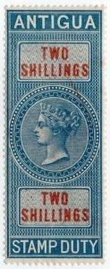 (I.B) Antigua Revenue : Duty Stamp 2/-