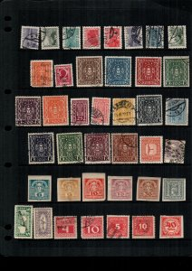 Austria  MH  and used lot of 38