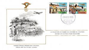 Uganda, Worldwide First Day Cover, Aviation