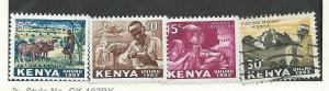 Kenya #1-3 (MH)  #5  (U) CV $1.50