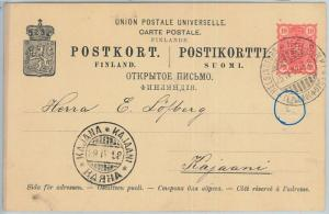 66689 - FINLAND - Postal History - POSTAL STATIONERY CARD  1898