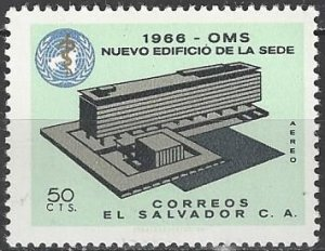 El Salvador  C231  MNH  UN WHO Building