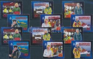 GB Alderney stamp Saving service MNH 2002 Mi 199-204 A+C WS176289