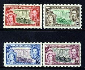 SOUTHERN RHODESIA KiG VI 1937 Complete Coronation Set SG 36 to SG 39 MINT