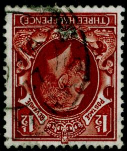SG441Wi, 1½d red-brown, FINE USED. WMK INVERTED.
