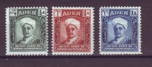 J20868 Jlstamps 1942 aden shihr & mukalla mh #1-3 sultan