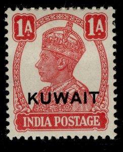 KUWAIT GVI SG55, 1a carmine, M MINT.