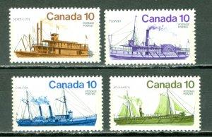 CANADA 1976 VESSELS #700-703 SET MNH...$2.00