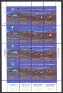 Marshall Islands Sc# 58e MNH Pane/16 1984 Christmas