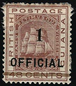 British Guiana #97 SG 154 Mint F-VF hhr perf stains on top..Fill a Key spot!