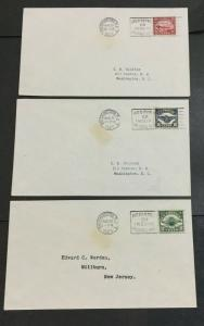 MOMEN: US STAMPS #C4-C6 USED FDC