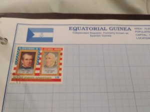 Equatorial Guinea shows portraits of american Presidents James Knox Polk (1795-1