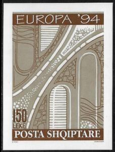 Albania #2454 MNH S/Sheet - Europa - Road Patterns