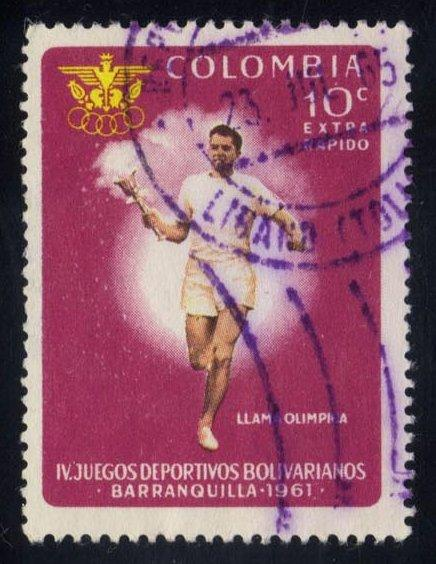 Colombia #C417 Torch Bearer, used (0.25)