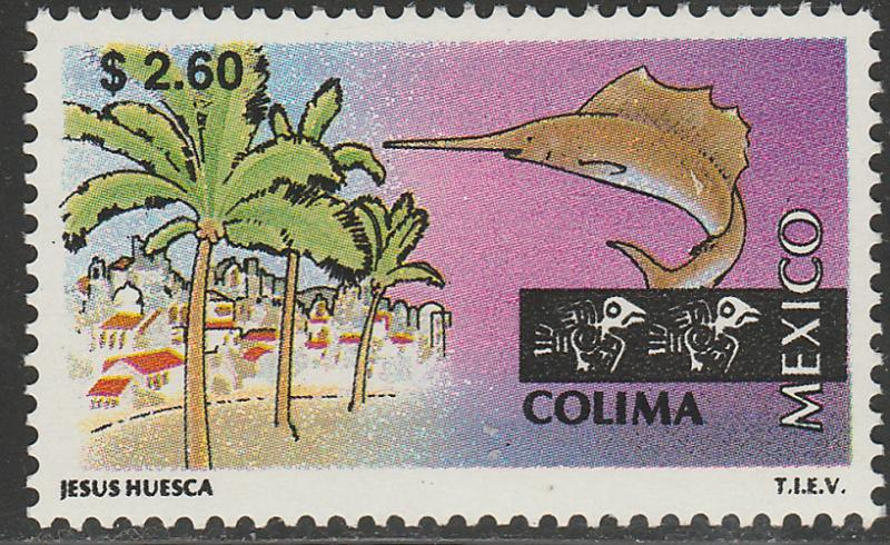 MEXICO 2124 $2.60 Tourism Colima, resort, fishing. Mint, Never Hinged F-VF.
