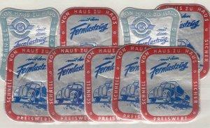 Germany Foil Transport Poster Cinderella Labels x 9 J9074