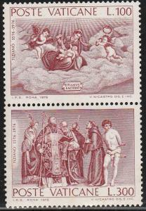VATICAN 591a, PAINTINGS BY TITIAN. MINT, NH. F-VF. (436)