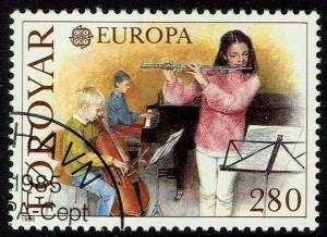 Faroe Islands #125  Used - Europa, Music, Flute, Cello, Piano (1985)