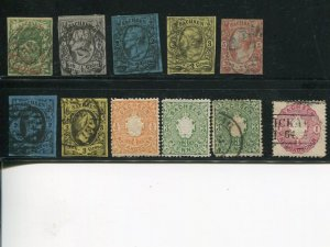Saxony  Lot  F-VF  #2 VF, etc - Lakeshore Philatelics