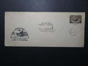 Canada 1933 Bissett to Wadhope First Flight Cover - Z11267