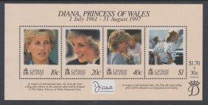 Cayman Islands 753 Princess Diana Souvenir Sheet MNH VF