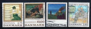 Denmark 4 Different Art Commemoratives All Postally Used!