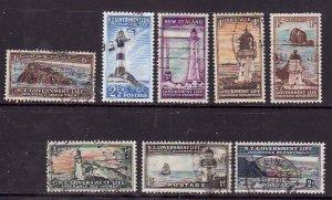 New Zealand-Sc#OY29-36- id7-used Lighthouses set-1947-65-