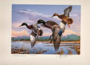 GEORGIA #2 1986 STATE DUCK PRINT MALLARDS  MEDALLION EDITION   By Jim Killen