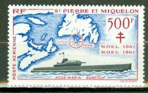 Q: St Pierre & Miquelon C25 MNH CV $130