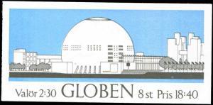 Sweden 1989 Globen | The Globe Scott #1732a Booklet VF-NH  Pane of 4 Stamps