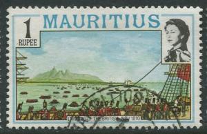 Mauritius-Scott 454 -QEII Pictorial Definitives -1978 -Used -Single 1r Stamp