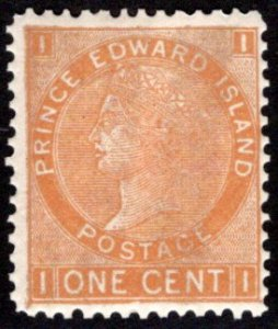 Scott 11b, PEI, Prince Edward Island, Canada, VG/F, p.12.5x13, MNHOG, QV, 1872