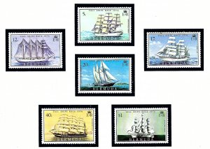 Bermuda 337-42 MNH 1976 Sailing Ships
